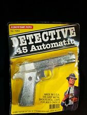 Vintage 1990 TootsieToy DETECTIVE .45 AUTOMATIC Diecast Metal Toy Handgun