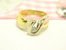 Gut geschliffene solitäre Echtschmuck-Ringe aus mehrfarbigem Gold