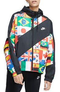 Nike NSW Sportswear Flag Pack Woven Jacket CJ3213-010 SZ S International Olympic