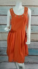 Calvin Klein Orange Fit and Flare Career  Sheath Cocktail Dress  Size 12