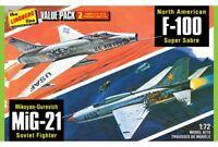 LINDBERG R2LIN0HL432 1/72 2 Pack Vietnam Era F-1 *
