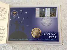 Enveloppe philatélique Vatican avec pièce de 2 € commém. plus timbres 2009