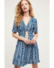 Anthropologie HD in Paris Blue Archipelago Dress Sz 2 NWOT