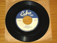 """BLUES 45 RPM - HAROLD BURRAGE - COBRA 5012 - """"MESSED UP"""" + """"I DON'T CARE WHO..."""""""
