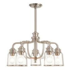 Livex Lawrenceville 5 Light Dinette Chandelier in Brushed Nickel - 40025-91