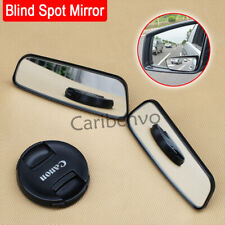 2Pcs Convex Wide Blind Spot Glass Car Side Rear View Ex Long Security Mirror