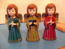 VINTAGE NIB COLLECTION SET OF 3 PAPER MACHE ANGELS JAPAN BOX DATED 1969