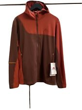 MENS MOUNTAIN EQUIPMENT FLASH HOODED JACKET, SIZE L, RED/ ORANGE, RRP £90.00.