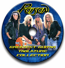 POISON GLAM METAL HEAVY ROCK GUITAR TAB TABLATURE SONG BOOK SOFTWARE CD