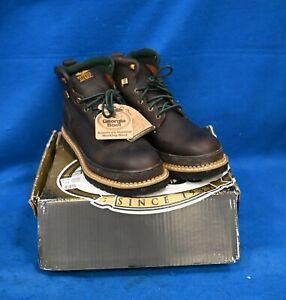 GEORGIA BOOT Men's Work Boot Steel Work Boot Soggy Brown Size 12W G6374