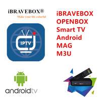 12 Month IPTV Subscritption Europe UK Android MAG M3U SmartTV iBRAVEBOX TV Box
