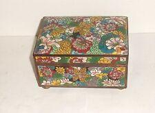 RARE LARGE CHINESE CLOISONNE ENAMEL MILLEFLEUR HUMIDOR TRUNK JAR BOX