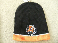 Cincinnati Bengals Waffle Officially Licensed NFL Beanie Hat-BNWT's