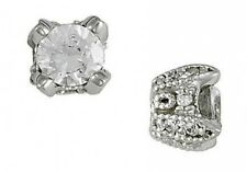 1.5 ct I VS1 natural round diamond antique style stud earrings 18k white gold