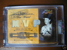 Stan Musial 2004 Playoff Prime Cuts 6/6 MVP Game Used Jersey Bat 1/1