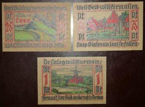 Germany 25, 75 pfennig, 1 mark 1921 Notgeld / Papiergeld