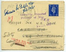 GREAT BRITAIN 1941.2.6 cover to Dvr Down/ Destination D - Addresee Reported/ POW