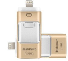 128GB i Flash Drive USB Memory Stick U Disk 3 in 1 for Android/IOS iPhone 6S PC