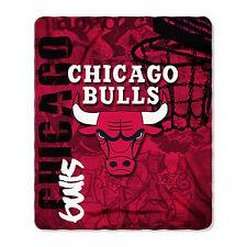 "New Northwest NBA Chicago Bulls Large Soft Fleece Throw Blanket 50"" X 60"""
