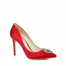 168ea8423 Jenny Packham Paola Womens Red High Stiletto Heel Pointed Shoes Diamante UK  7