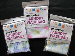 Laundry Washing Bag Washbag Lingerie Delicates Fine Mesh Clothes Zip Sz M Bag