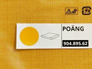 "IKEA POANG OTTOMAN CUSHION SKIFTEBO YELLOW poly approx 20x2x22"" NEW FREESH"