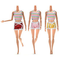 2 Pcs//set Fashion Dolls Clothes for  Dress Pants with Magic Pasting Toy JB