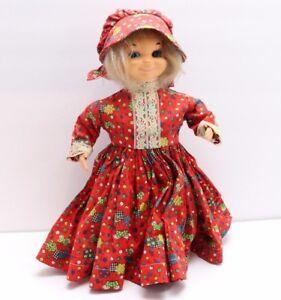 Vintage Handmade Dish Soap Bottle Country Doll With Bonnet Grandma Granny Mammaw