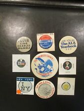 Vintage Lot of 9 Misc. Button Pins