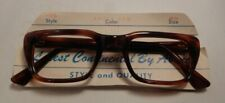 Vintage Abaco Kosta Amber Red 48/24 Eyeglass Frame New Old Stock #393