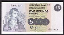 Clydesdale Bank PLC: 5 libras, 5-1-1983, D/año fiscal 077427. (Billete Año Libro; SC..