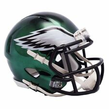 Philadelphia Eagles Mini Helmet Riddell NFL Alternate Speed Chrome Green
