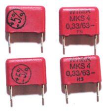 Wima MKS-4 Uf Condensatore in poliestere 0.33uF 63Vdc (pacco da 4)
