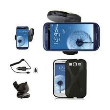 Samsung Galaxy S3 I9300 Auto Halterung Halter KFZ Ladegerät  Silikon Hülle Black