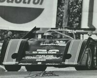 1973 David Hobbs signed Carling Black Label McLaren M20 Can Am B&W 8x10 Photo