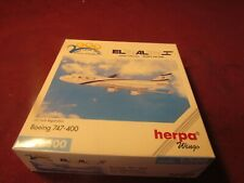 HERPA WINGS- BOEING 747 -400 ISRAEL AIRLINES 1:500 SCALE AIRPLANE MODEL