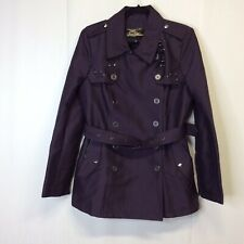 Sam Edelman Women Purple Coat Winter Jacket With Belt And Studs Size Large L