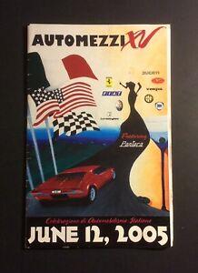 Automezzi XV 2005 Italian Sports Car Show Brochure