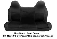 Black Mesh Fabric Bench seat cover Fit Most Ford F-150 Single Cab Truck's 92-04
