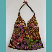 Victoria's Secret Colorful Floral Print Halter Tankini Top | Size S