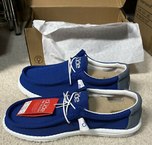 Hey Dude Wally Sox Go blue Shoes Size 12
