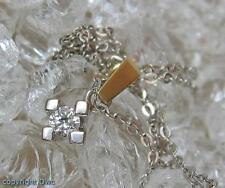 Collier Kette mit Brillant Brillanten Diamanten Solitär in 585er Gold