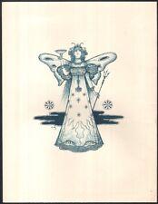 Lucien Metivet. Femme papillon au trident. Lithographie originale vers 1895