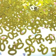 50th Birthday Gold Confetti Number Party Table Decoration Sprinkles