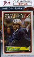 Ken Stabler 1983 Topps Jsa Cert Hand Signed Authentic Autograph