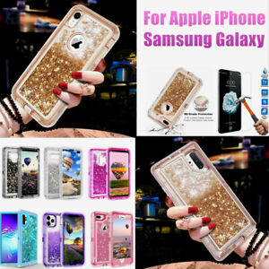 For iPhone Galaxy Case Glitter Bling Sparkle Quicksand Shockproof Fashion Cover