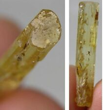 #7 Cambodia Natural Rough RawTerminated Heliodor Crystal Stick Specimen 5.70Ct