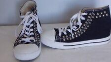 Balera Women's Shoes Black Canvas Hightop Bling size 9