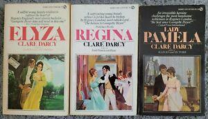 CLARE DARCY 3 BOOK LOT VINTAGE ROMANCE PB REGENCY HISTORICAL PAMELA REGINA ELYZA