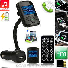 Wireless Bluetooth FM Transmitter Car Mp3 Player LCD USB Port Mobile Charger Kit Style 2 Black